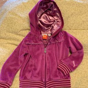 •Puma• Toddler Velour Hoodie Jacket - Size 3T